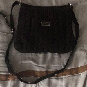 Vera Bradley black cross body bag and wallet